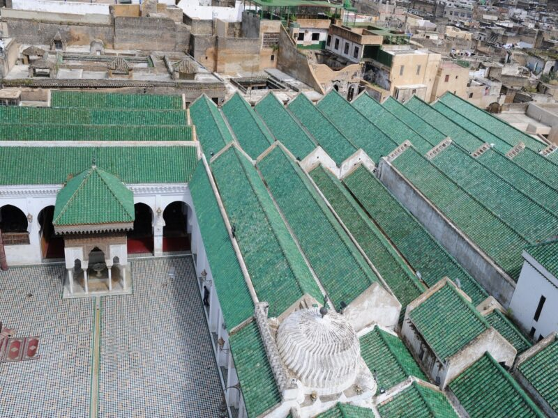 al quarawiyyin mosque rooftop Things to do in Fez Morocco