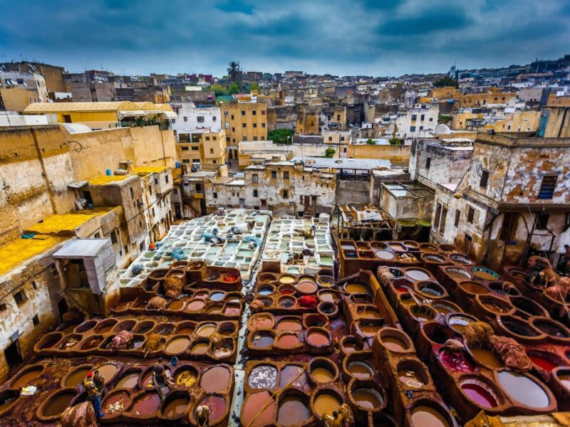 fez tannery old medina Things to do in Fez Morocco