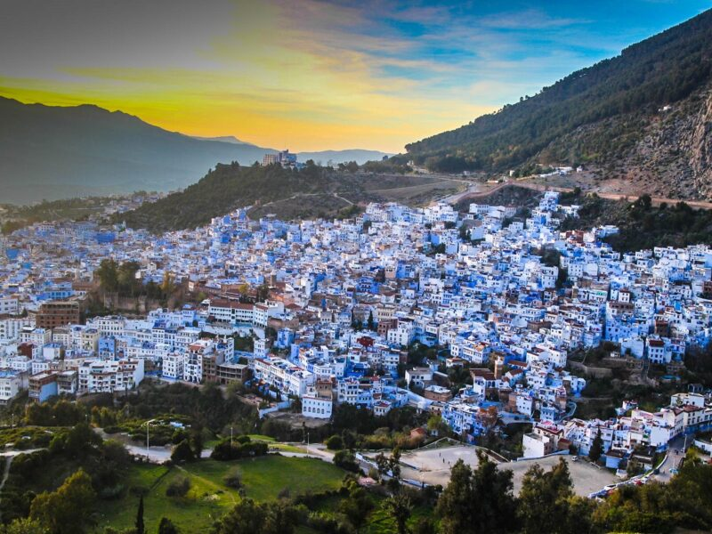 tourist places to visit in the blue city chefchaouen morocco
