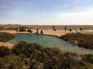 Imlili saltwater pools in desert;places to visit in dakhla morocco